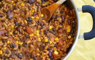 Макароны с фасолью в томатном соусе - фото шаг 9