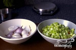Рагу с фасолью и мангольдом - фото шаг 1