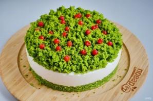 """Новогодний торт """"Лесной мох"""" - фото шаг 19"""