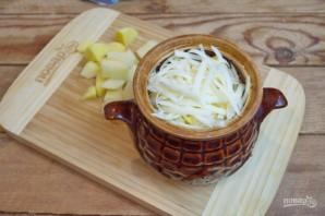 Охотничьи колбаски с картофелем в горшочках - фото шаг 9