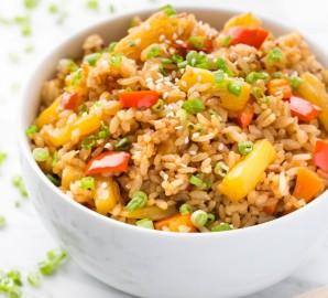 Рис с ананасом и овощами - фото шаг 5