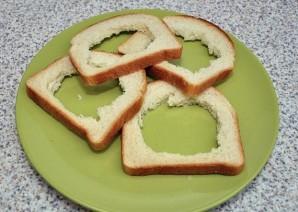 Бутерброды в духовке с яйцом - фото шаг 2