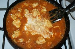 Курица под соусом карри - фото шаг 7