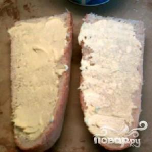 Чесночно-сырный бутерброд - фото шаг 3