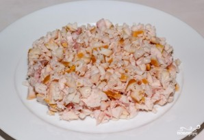 Салат из копченой курицы с шампиньонами - фото шаг 6