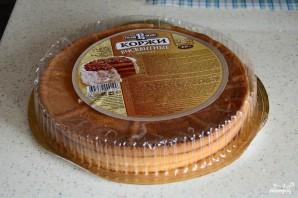 Быстрый торт из коржей - фото шаг 1