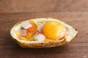 Картофельные лодочки в духовке - фото шаг 2