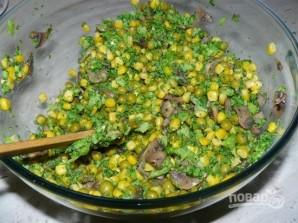 Салат с шампиньонами жареными - фото шаг 5