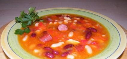 Густой суп с фасолью - фото шаг 6