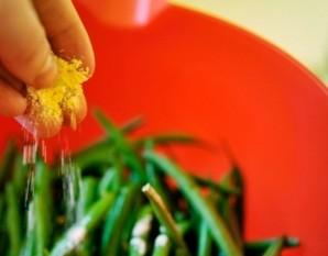 Зеленые бобы - фото шаг 2
