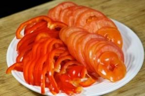 Баклажаны запеченные с овощами - фото шаг 7