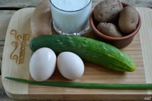 Холодный суп на кефире - фото шаг 1