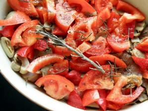Рагу из маринованного кролика с овощами и грибами - фото шаг 7