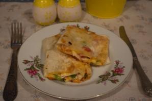 Лаваш с начинкой, жаренный на сковороде - фото шаг 6