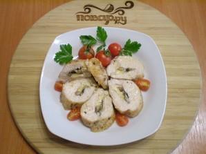 Грудка, запеченная с грибами и сыром - фото шаг 7