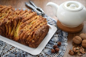 "Хлеб ""Гармошка"" с ореховой начинкой - фото шаг 11"