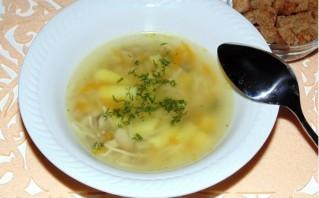 Грибной суп с вермишелью - фото шаг 4