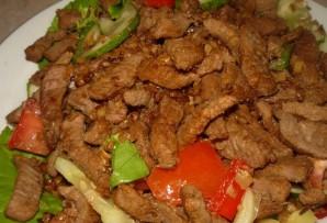 Салат с говядиной и орехами - фото шаг 4