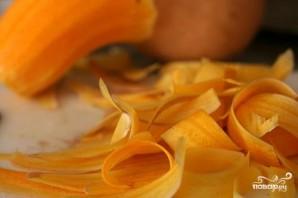 Блинчики с тыквой, беконом и козьим сыром - фото шаг 1