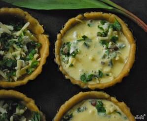 Тарталетки с творожным сыром и зеленью - фото шаг 3