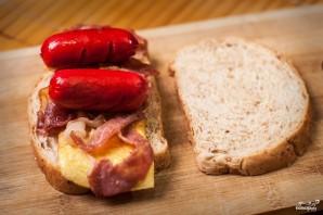 Бутерброд с сосиской - фото шаг 4