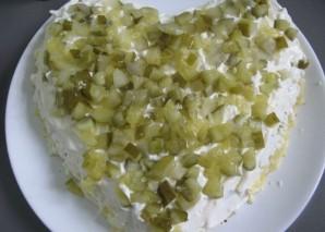 Салат в виде сердца - фото шаг 6