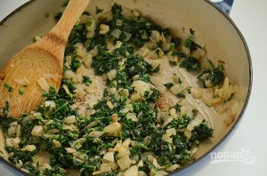 Фриттата с ветчиной, шпинатом и сыром - фото шаг 4