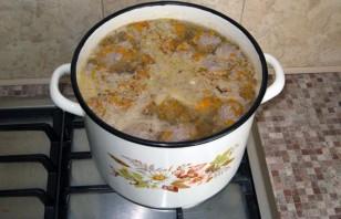Сырный суп с фаршем - фото шаг 5