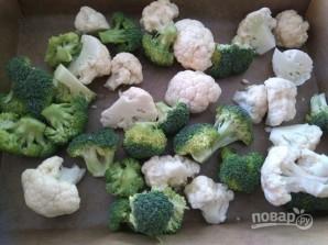 Брокколи с цветной капустой - фото шаг 1