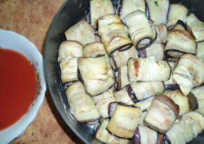 Рулеты из баклажанов с мясом - фото шаг 7