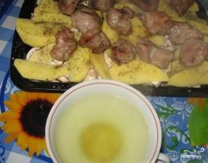 Картофель со свининой и грибами - фото шаг 5