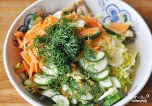 Салат из пекинской капустки с мясом - фото шаг 5
