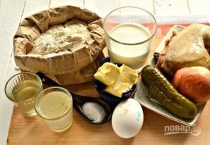 Пирожки с мясом и огурцами - фото шаг 1