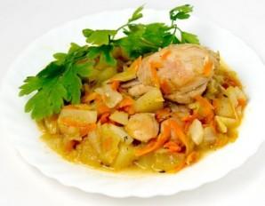 "Курица с овощами в мультиварке ""Поларис"" - фото шаг 6"