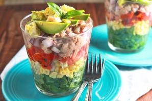 Салат с тунцом слоеный - фото шаг 5
