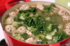 Суп с фрикадельками из индейки  - фото шаг 4