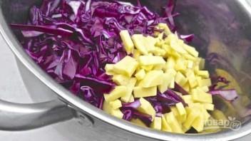 Суп-пюре из краснокочанной капусты - фото шаг 2
