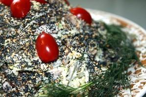 Салат с блинами и мясом - фото шаг 7