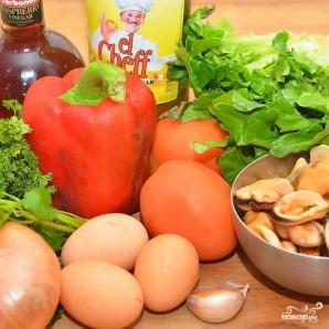 Средиземноморский салат с мидиями - фото шаг 1
