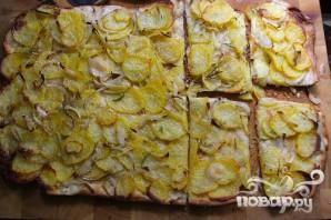 Картофельная пицца с розмарином - фото шаг 5