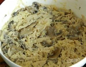 Салат из куриной грудки и шампиньонов - фото шаг 7