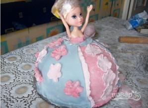"Торт ""Кукла"" мастер-класс - фото шаг 10"