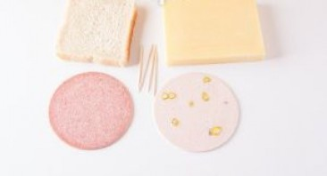 Канапе с сыром и колбасой - фото шаг 1