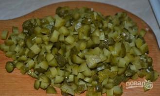Салат с куриной грудкой и грибами - фото шаг 7