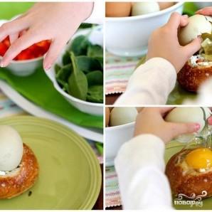 Булочки на завтрак с яйцом и начинкой - фото шаг 3