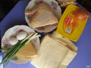 Рулет из лаваша с яйцом и сыром - фото шаг 1