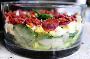 Очень вкусный слоеный салатик - фото шаг 7
