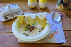 Крем-суп из кабачков с лисичками - фото шаг 12