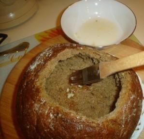 Грибной суп в буханке хлеба - фото шаг 2