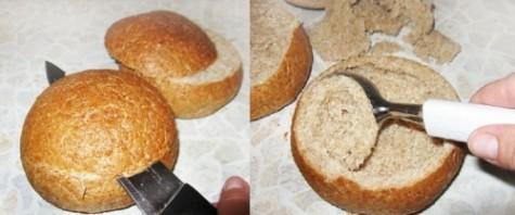Суп в тарелке из хлеба - фото шаг 1